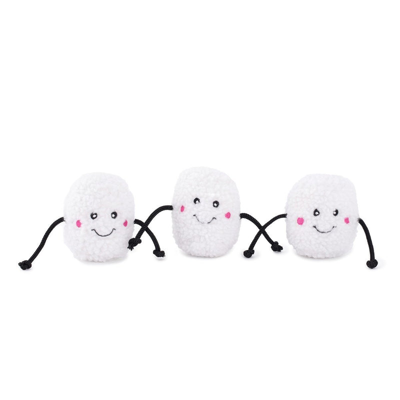 Zippy Paws Christmas Holiday Miniz 3-Pack - Marshmallows