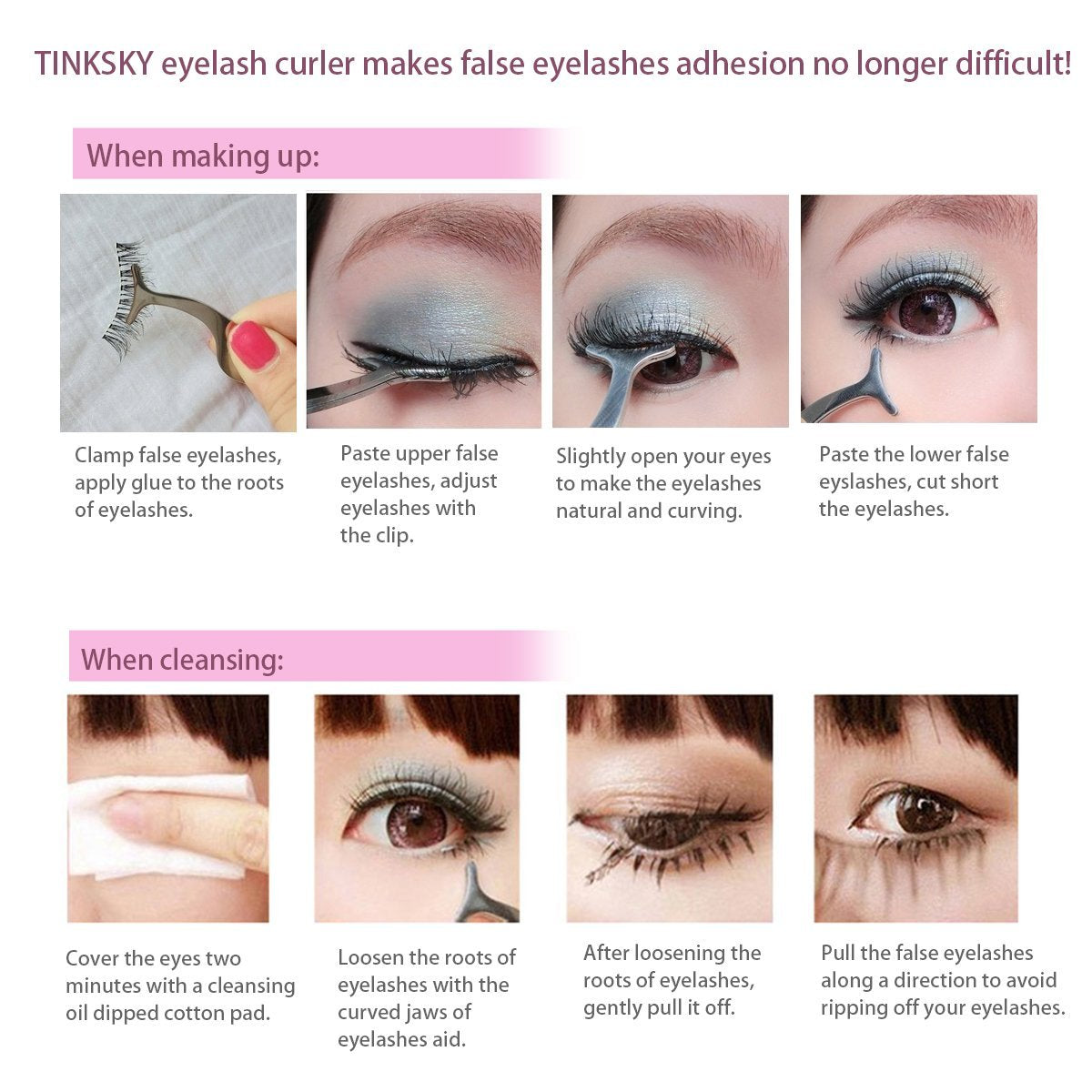 How to put on and remove false eyelashes