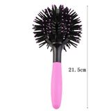 3D Round Hair Comb Brush