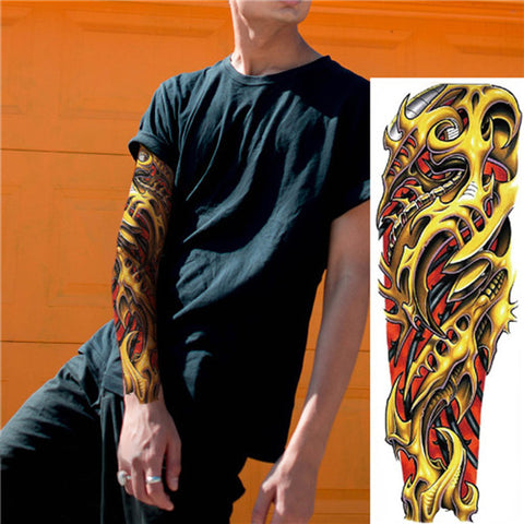 Golden Dragon Temporary Tattoo