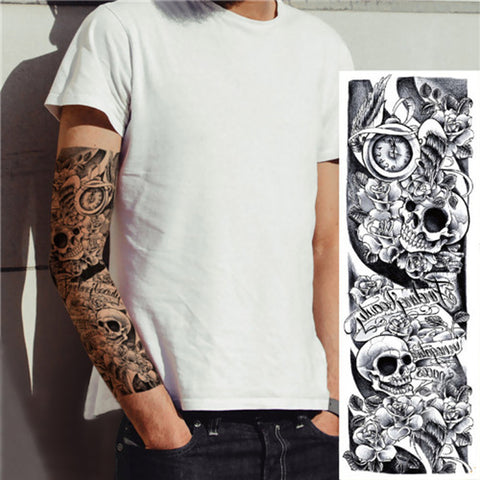 Skulls Full Sleeve Tattoo