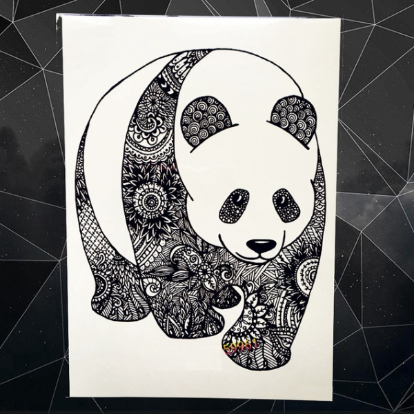 Panda Bear Temporary Tattoos