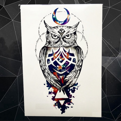 Owl King Temporary Tattoos