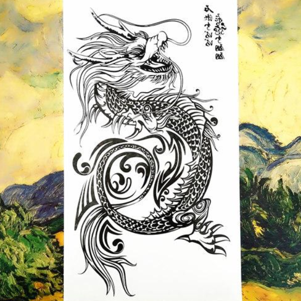 Cool Dragon Temporary Tattoos