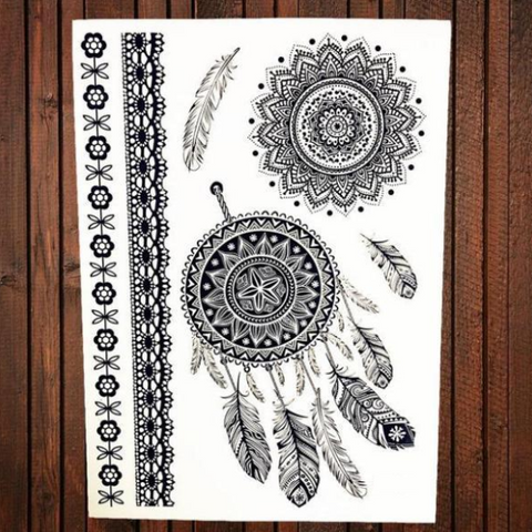Mandala Temporary Tattoos