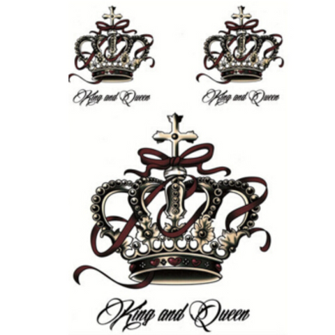 King & Queen Temporary Tattoos