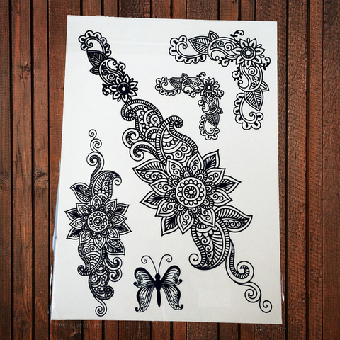 Black Henna Temporary Tattoos