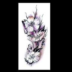 Flowers Design Temporary Tattoos