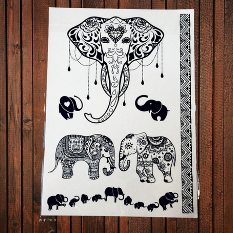 Elephant Temporary Tattoos