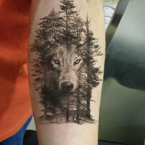 Forest Wolf Temporary Tattoos