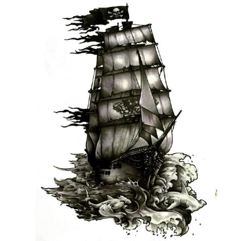 Pirate Ship Temporary Tattoos