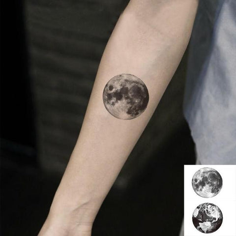 Vintage Moon Temporary Tattoos