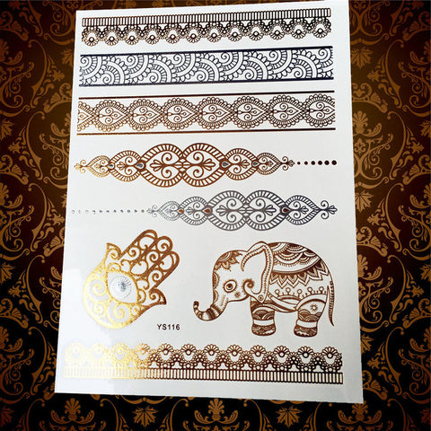 Indian Style Temporary Tattoos