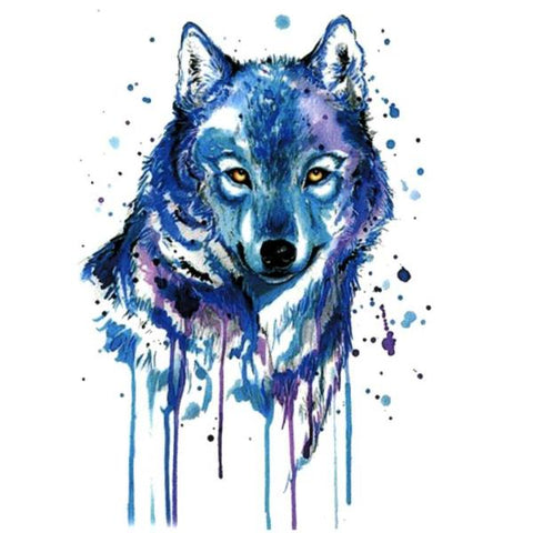 Blue Wolf Temporary Tattoos