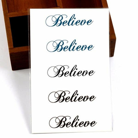 Believe Temporary Tattoos