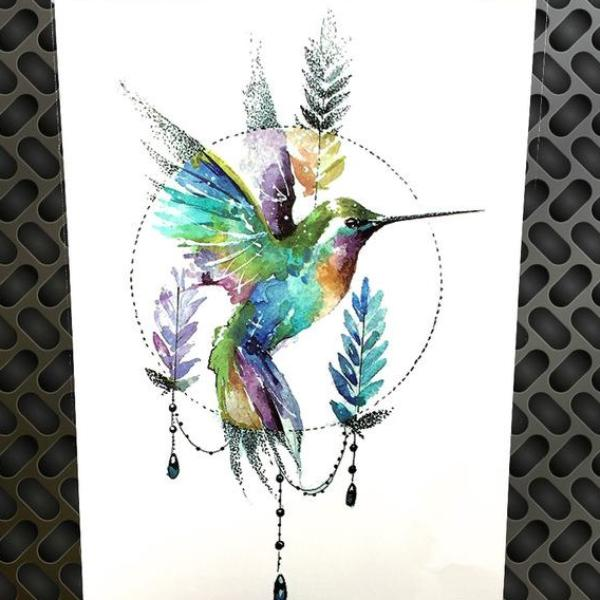 Beautiful Bird Temporary Tattoos