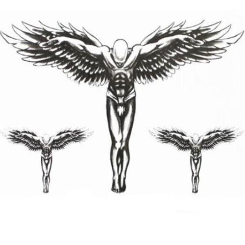 Black Angel Temporary Tattoos