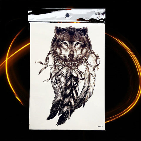 Wolf Warrior Temporary Tattoos