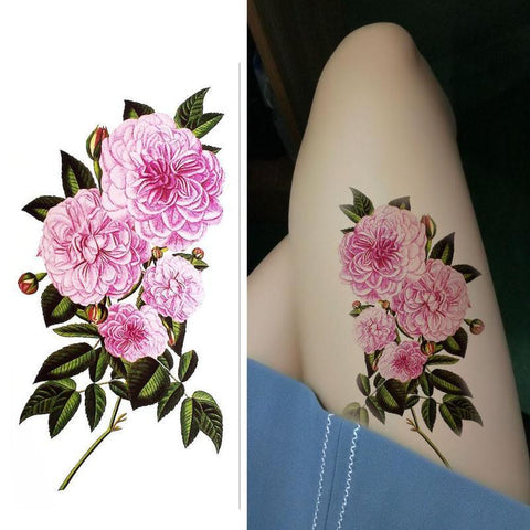 Pink Rose Tattoo