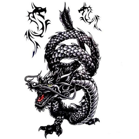 Black Dragon Temporary Tattoos