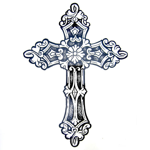 Vintage Cross Tattoo