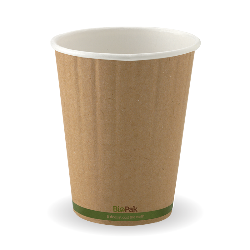 12oz Coffee Cup Double Wall Kraft Brown (1000 Piece)