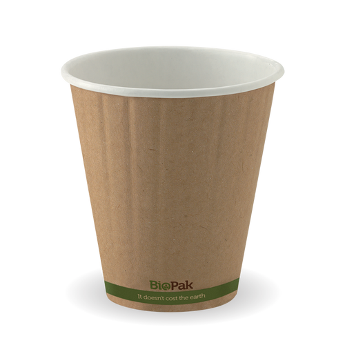 8oz (90mm) Uni-lid Coffee Cup Double Wall Kraft (1000 Piece)