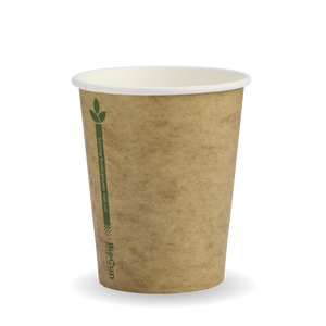 8oz Coffee Cup Single Wall Single Green Kraft (1000 Piece)