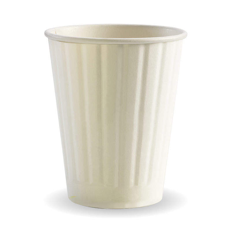 12oz Coffee Cup Double Wall Plain White (1000 Piece)