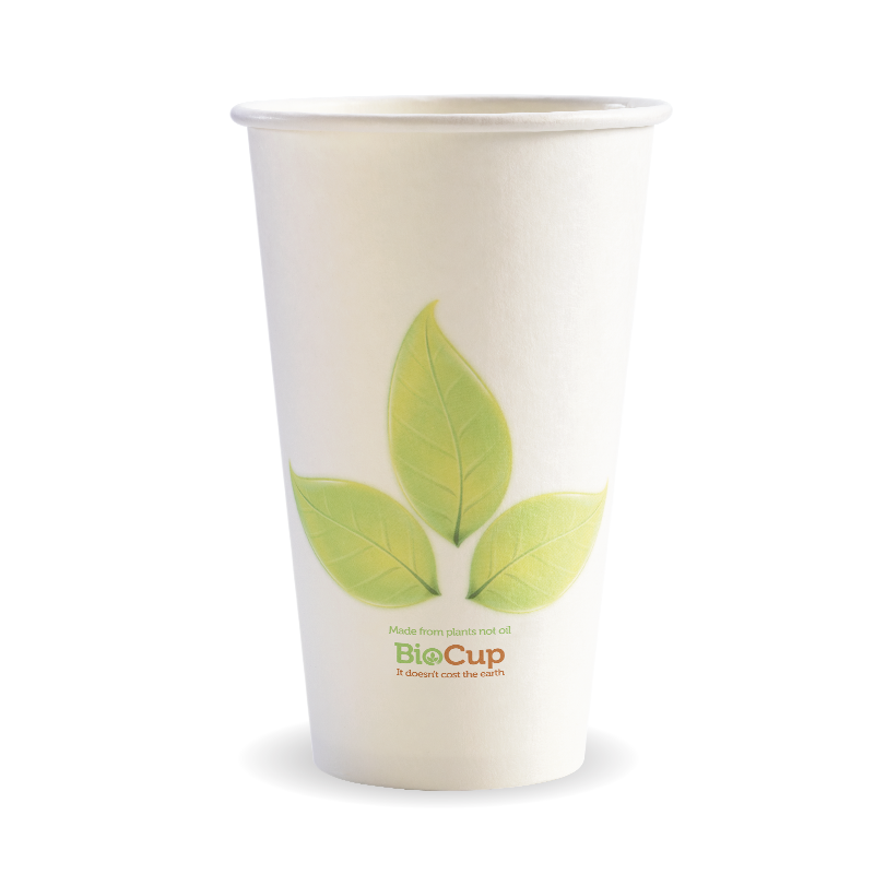 16oz Coffee Cup Single Wall Bio Leaf (1000 Piece)
