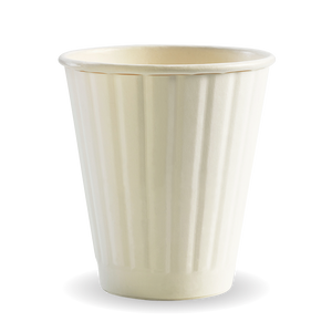 8oz (90mm) Uni-lid Coffee Cup Double Wall White (1000 Piece)