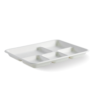 Biocane 5 Compartment Lunch Tray (500 Piece)