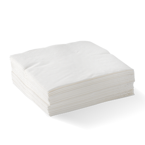 2 Ply 1/4 Fold Embossed Dinner BioNapkin - White (2000 Piece)
