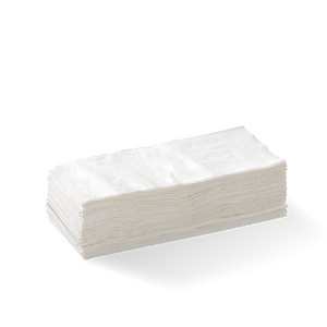 2 Ply 1/8 Fold Lunch BioNapkin - White (2000 Piece)