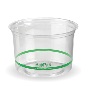 500ml Biodeli PLA Bowl Clear (500 Piece)