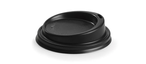 6/8oz Black Plastic Lid (1000 Piece)