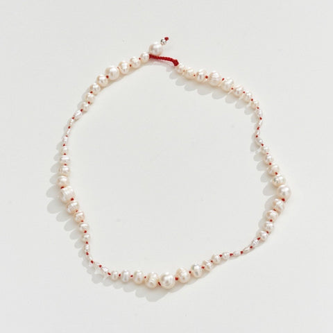 FRESHWATER PEARL NECKLACE - RED