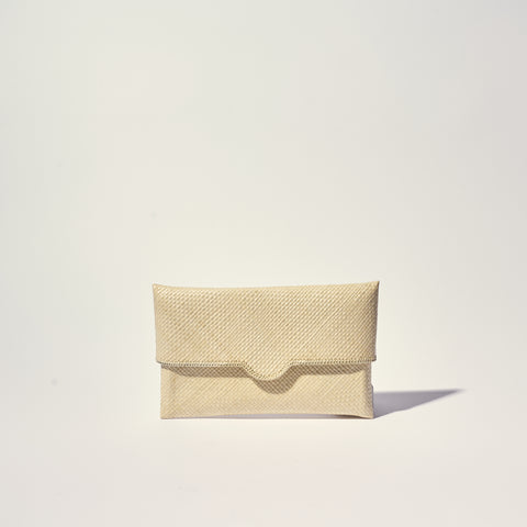NATURAL STRAW FLAT CLUTCH