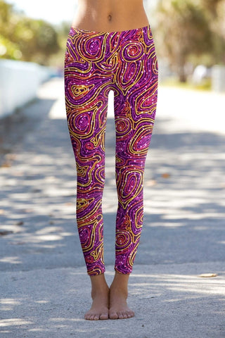 Vibrant Galaxy Lucy Printed Performance Leggings -