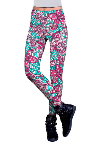 Under The Sea Lucy Printed Performance Leggings -