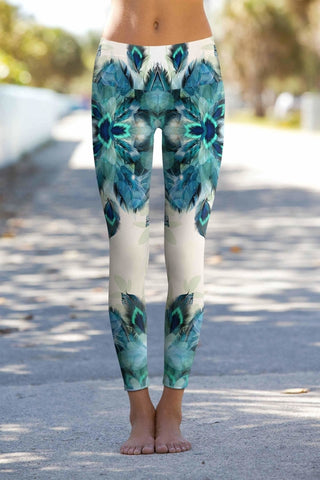 Peacock Tone Lucy Printed Performance Yoga