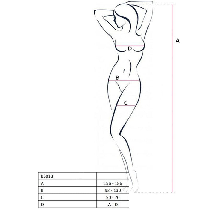 Bodystocking Passion Bs013 Blanco Talla Unica