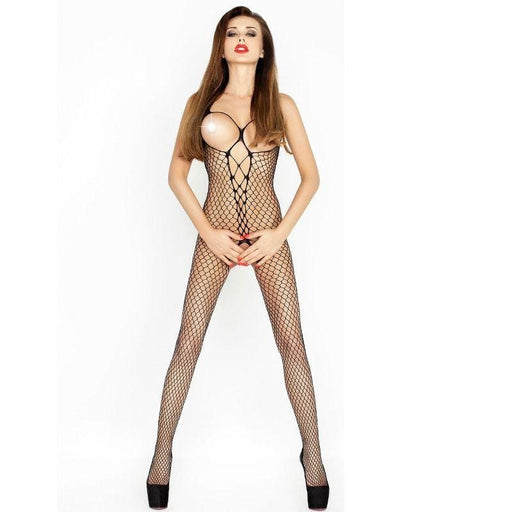 Bodystocking Passion Bs014 Negro Talla Unica