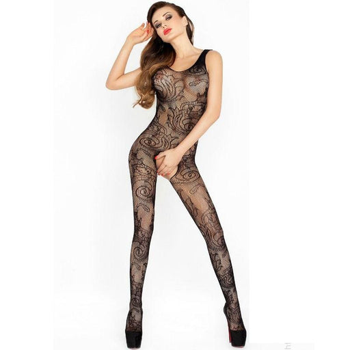 Bodystocking Passion Bs020 Negro Talla Unica