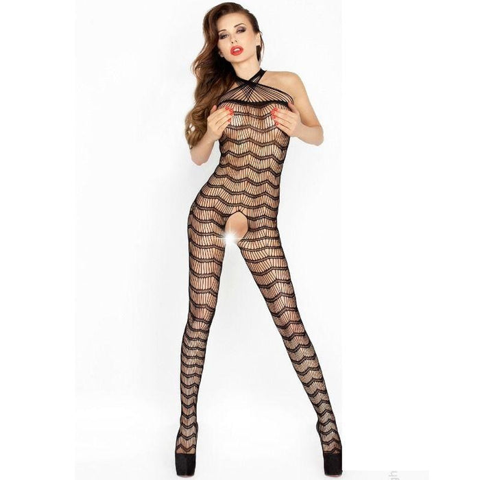 Bodystocking Passion Bs022 Negro Talla Unica