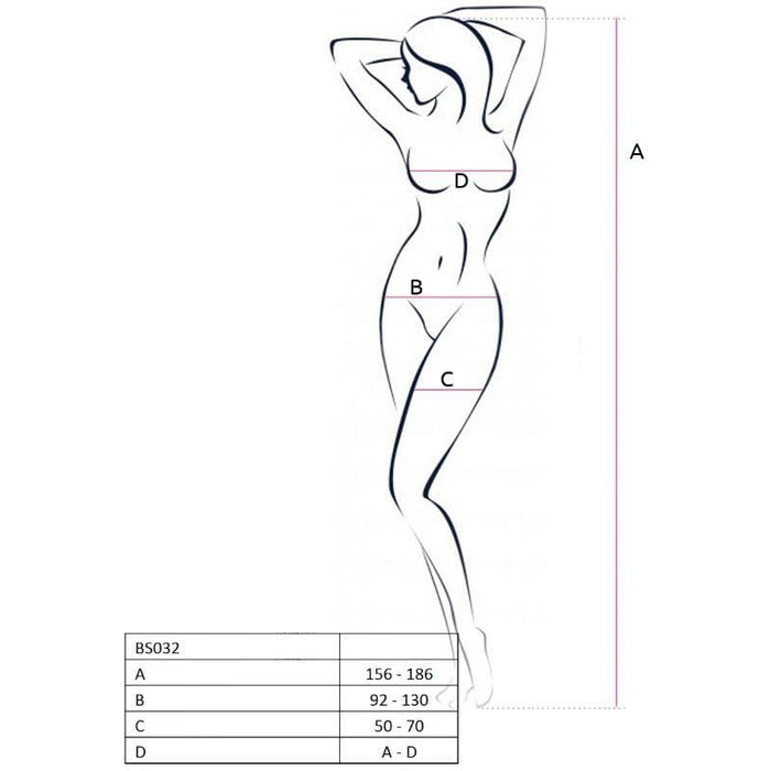 Bodystocking Passion Bs032 Blanco Talla Unica