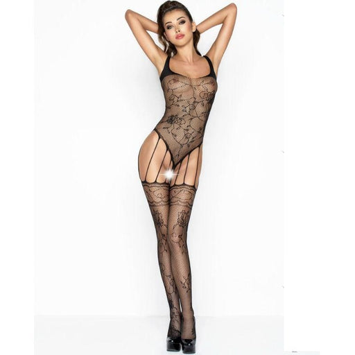Bodystocking Passion Bs034 Negro Talla Unica