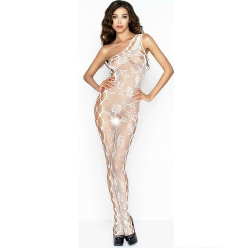 Bodystocking Passion Bs036 Blanco Talla Unica
