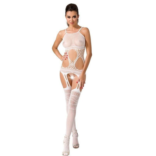 Bodystocking Passion Woman BS047 blanco talla unica