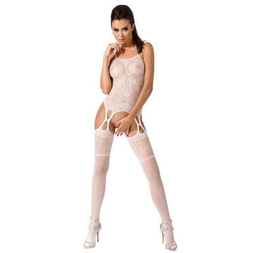 Bodystocking Passion Woman BS050 blanco talla unica